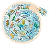 Goki - Puzzle circular (madera, 27 piezas), diseño de animales