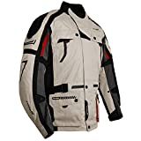 Roleff Racewear Chicago Chaqueta Textil para Moto, Blanco, XXL