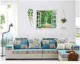 3Dparedpegatinalivingcomedordormitoriodecoracióndeparedextraíblepegatinasimpermeableetiqueta engomadadel PVC(1*2pcs)