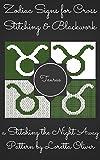 Taurus Zodiac Cross Stitch and Blackwork Pattern Set (Zodiac Sign