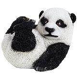 Realista Polyresin bebé panda oso adorno de jardín