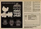 Woodstock, Concierto Reproducción sobre Calidad 200gsm de espesor en Cartel