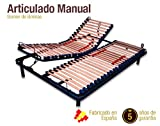 Somier Articulado Manual. DISPONIBLE EN TODAS LAS MEDIDAS (90 x
