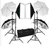 Mvpower Estudio Fotografia 2x Softbox(50x70cm) 2x Trípode(2m) 2x Bombilla(135W) 1x