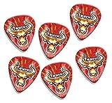 Taurus Zodiac Star Sign 6 X Logo Guitarra Picks (GD)