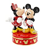 Disney Mickey y Minnie Mouse besándose Trinket Box