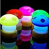 Bluelover LED colores prensa seta táctil lámpara noche luz -