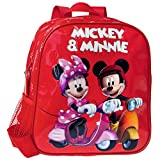 Disney Mickey y Minnie Mouse Mochila, Rojo