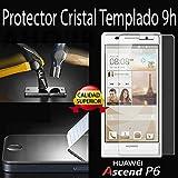 Protector pantalla cristal templado para HUAWEI P6. film templado, vidrio