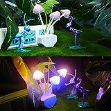 Bluelover Romántica colorido LED Sensor seta noche luz lámpara de