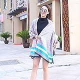 ZHANGYONG*Rayas calientes mujeres Plaid Mantón de moda casual del Cabo