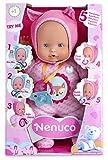 Nenuco - Muñeco blandito con 5 funciones, color rosa (Famosa