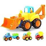 Plastico Juguetes de Coches Camiones Vehículos Construcción Set Juguetes Educativos