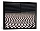 "Cuadro con marco: Gilbert Claes ""the hypnotic floor"" - Impresión"