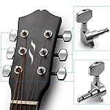 Neewer® 6 Piezas Guitarra Acústica Clavijeros Perillas Plata Guitarra Cuerdas
