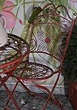 Vintage silla de jardín Metal Hierro Muebles de Jardín Jardín