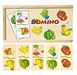 FRUTAS Legespiel LEARNING GAME DOMINO DOMINO MADERA MADERA Juguetes de