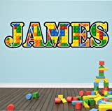 Nombre personalizado LEGO Adhesivo de Pared Vinilo Decorativo 100cm (W)