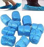 Demarkt 100 piezas desechables de zapatos de plástico delgada cubre