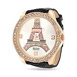 Bling Jewelry Reloj Esfera Chapado en Oro Rosa Diseño Torre