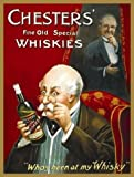 De Chester Aleta antigua Especial Whiskies. Whisky Botella, mayores muñeco
