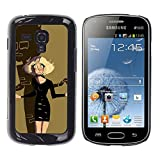 Planetar® (Blonde Halloween Scary Cartoon Character) Samsung Galaxy S Duos