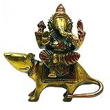 Ganesha Sentado En Estatuilla Antigua Decoración Del Hogar Escultura De