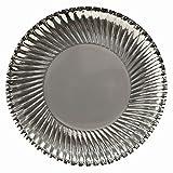32x plata redondo platos de papel desechables-metálico plata, ideal para