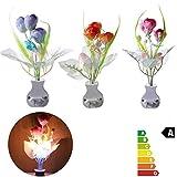 Bazaar Mini seta tulipán suave romántica casa sensor decoración noche