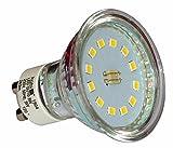 10pieza Juego de bombilla reflector lámpara LED 3W GU10Blanco Cálido