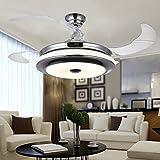 Ventilador de techo Ventilador Colorled Luz Mute Control remoto sencillo