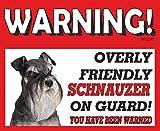 Schnauzer miniatura (1) perro guardián METAL SIGN 215