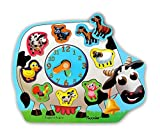 Wooden Clock Puzzle - Farm Animals by Puzzled
