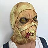 Emwel Halloween momia Zombie Scary máscara cabeza decorada apoyos