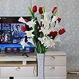ShiQi Flores artificiales falso piso salón de madera Arreglo Floral