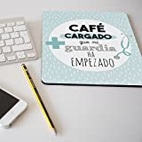 """Alfombrilla para ratón regalo original profesión médico """"Café cargado que"""