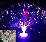 ZYT Estrellas de fibra óptica lámpara color flash luz 3pcs