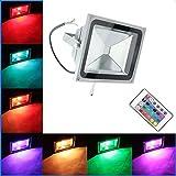 RPGT 30W RGB LED Foco Proyector Luz, 16 Colores con