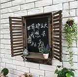SU@DA Hangings de la pared/decoración pared/ventana/ornamentos/americano país/vintage/bar/cafetería/ornamentos de madera/gancho/pizarra, a23-jk-258