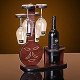 Su @ da madera maciza Botellero vino estante/Pipa//LA BOTELLA botellero