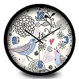 OAGHL Reloj cuarzo pájaro Living comedor dormitorio decoración de pared