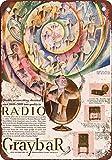 1928Graybar radios reproducción de aspecto Vintage Metal placa metálica, 12x