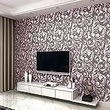 LXPAGTZ Papel pintado estilo europeo sala Ranunculus Shao deja sofá-cama