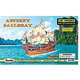 Puzzled antigua pre-colored de barcos de madera 3d Puzzle Construcción