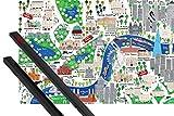 Póster + Soporte: Londres Póster (91x61 cm) Mapa De La