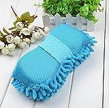 Coral-chenille limpieza esponja con un coche de esponja de lavado