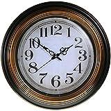 Reloj de pared analógico estilo Vintage - Esfera blanca envejecida