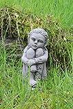 Sentado Jardín Pixie Hada adorno de jardín Escultura de piedra
