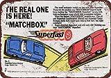 1969Matchbox coches súper reproducción de aspecto Vintage Metal placa metálica,