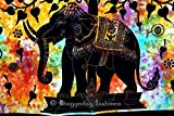 Handicrunch Indian Psychedelic Celestial Elephant Tree Of Life Tapestry,Good Luck
